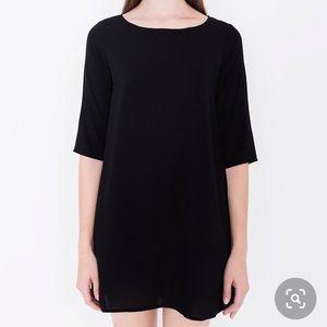 American Apparel black tent mini dress
